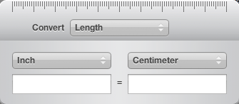 unit converter widget