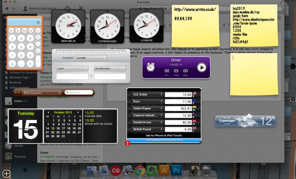 Apple dashboard