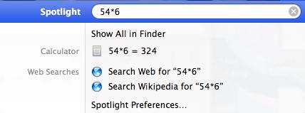 shortcuts spotlight math